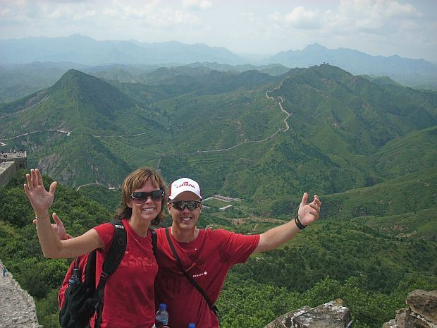 Kathy and Fred on the Great Wall of China