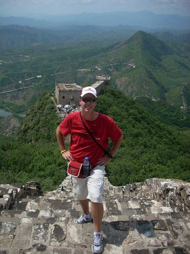 Fred Masters on the Great Wall of China