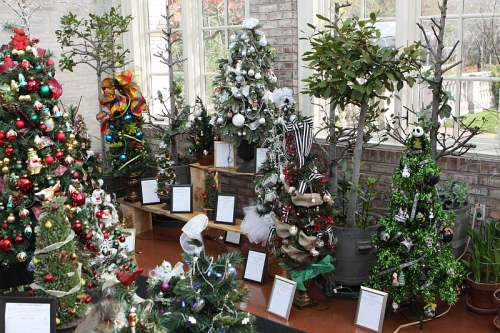 Some of the lovely decorated Christmas trees found inside the museum
