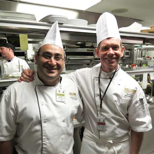 Chefs Chadi Khairallah & Raymond Taylor, photo by Mike Keenan
