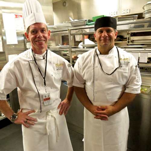 Chefs Raymond Taylor & Claudio Marchese, photo by Mike Keenan