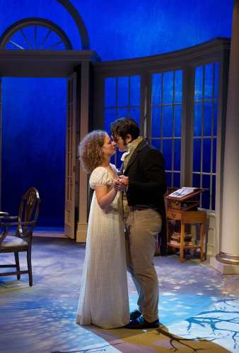 Kate Besworth as Thomasina Coverly and Gray Powell as Septimus Hodge in Arcadia. Photo by David Cooper