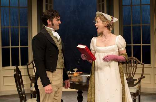 Nicole Underhay as Lady Croom and Gray Powell as Septimus Hodge. Photo by David Coope