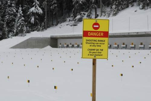 Danger sign shooting range