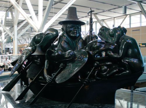 YVR, Bill Reid Haida sculpture, photo by Wikimedia Commons