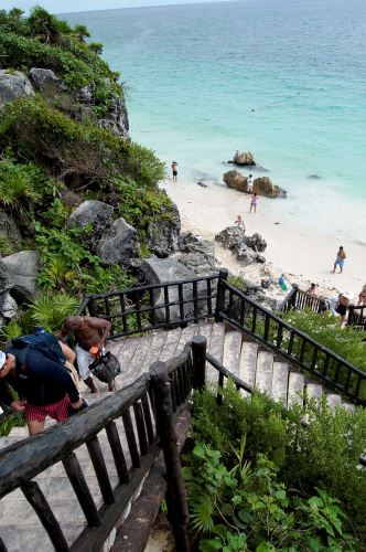 Staircase to the beach