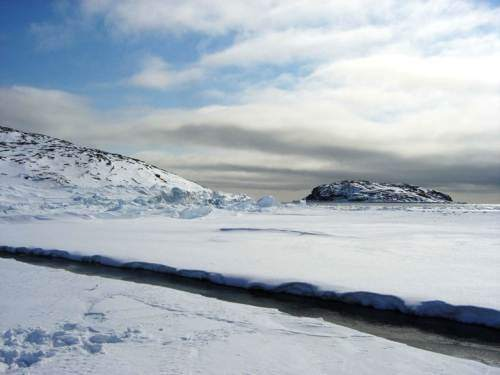 Footprints At The Floe Edge