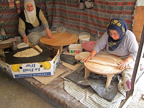 Locals Make Flat Bread