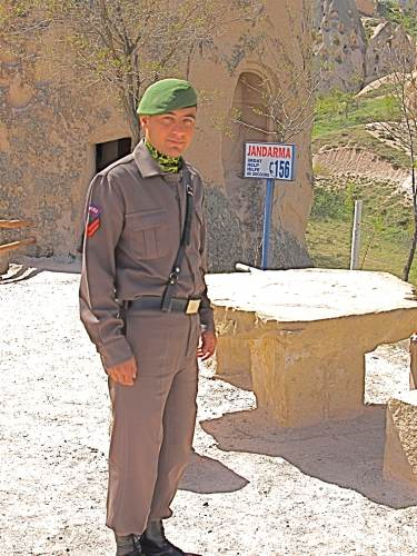Friendly Cop Outside Mountain Jandarma
