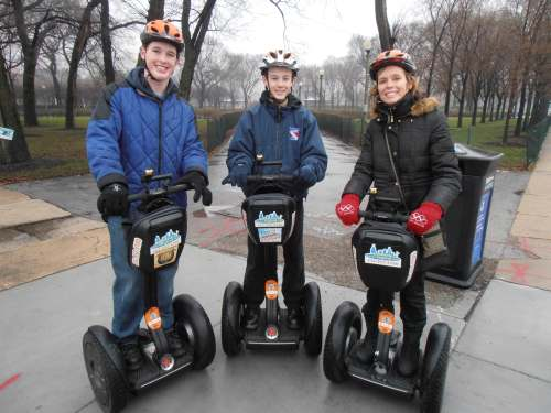 The Masters Family On Segways