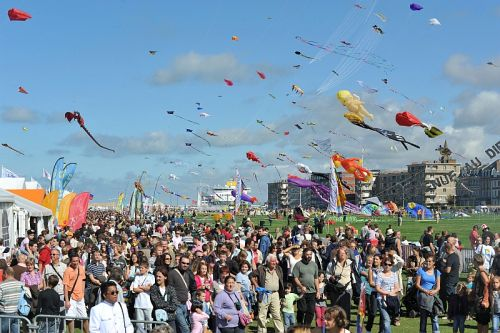 Kiteflyers from around the world descend on Dieppe every second September for an international festival. Photo by Erwan Lesné