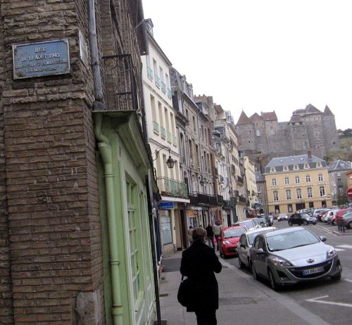 One of the streets in Dieppe was renamed to commemorate the August raid by Canadian soldiers