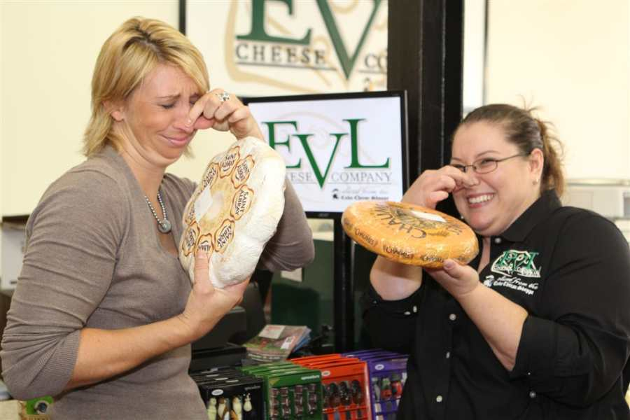 EVL Cheese Shoppe owner Sarah Bradley on left, and manager Shannon Halsaver