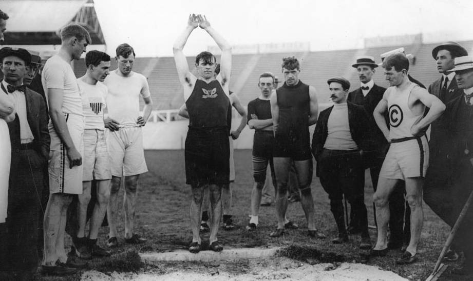 Standing Long Jump Practice Session - 1908 Olympics