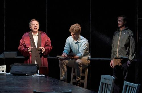 Ric Reid as Gabriel York, Wade Bogert-OBrien as Andrew Price and Jeff Meadows as Gabriel Law Photo by David Cooper