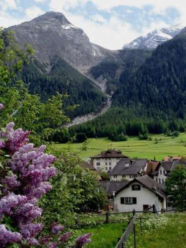 A Swiss Mountain Village