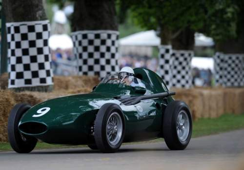 Vanwall driven by Sir Stirling Moss