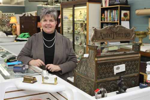 Wendy Kemp  of Antiques Unlocked is proud of her large selection of antiques and collectibles