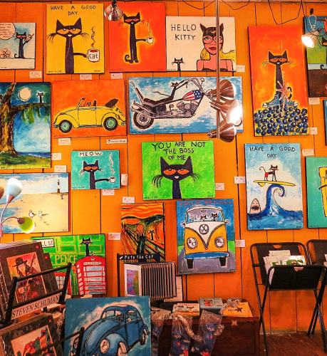 A. THUN Gallery, Pete the Cat wall, photo by Mike Keenan