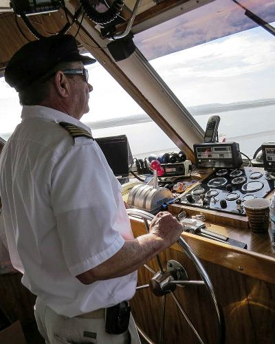 Captain Chuck, Captain of Spirit of Harbour Town, photo by Mike Keenan