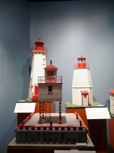 Musee de la Mer Lighthouse Models