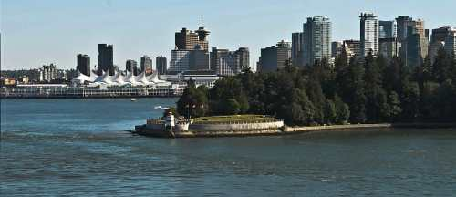 Leaving Vancouvers Canada Place and Stanley Park, photo by Mike Keenan