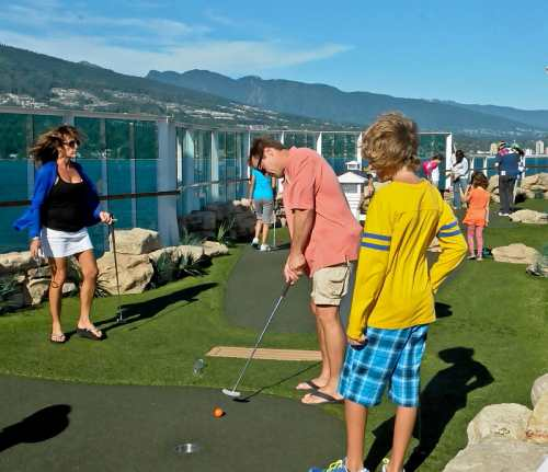 Playing miniature golf, photo by Mike Keenan