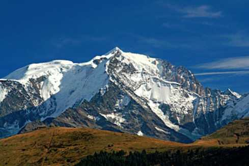 Mont Blanc is the highest point in Italy and the European Union, photo by Wikimedia Commons