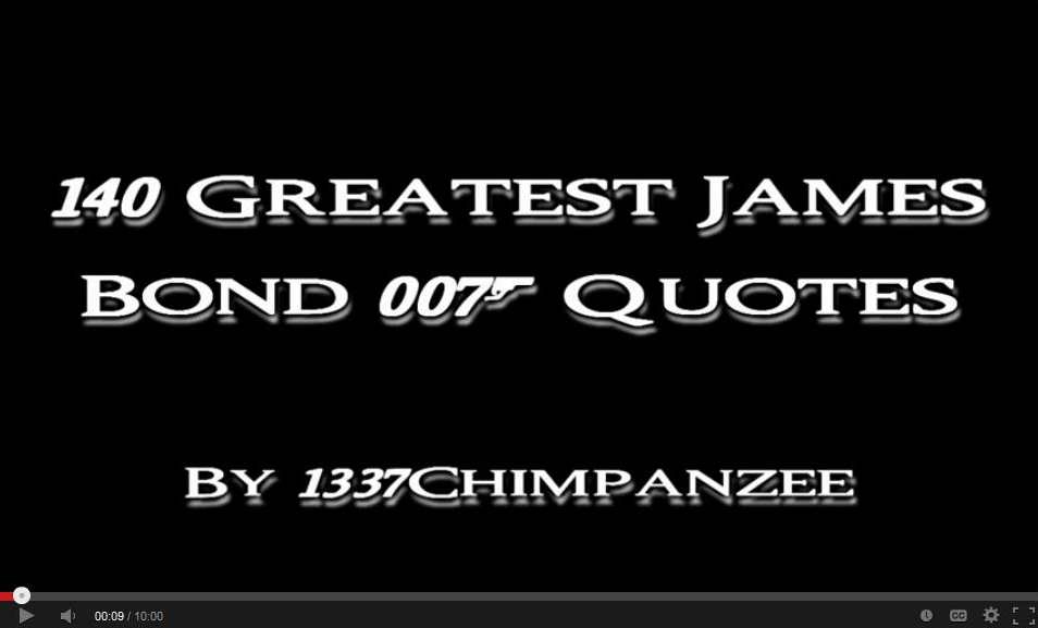 140 Greatest James Bond Quotes