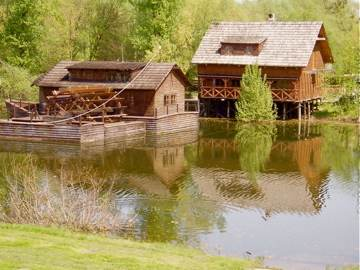 Water Mill Replica On Little Danube
