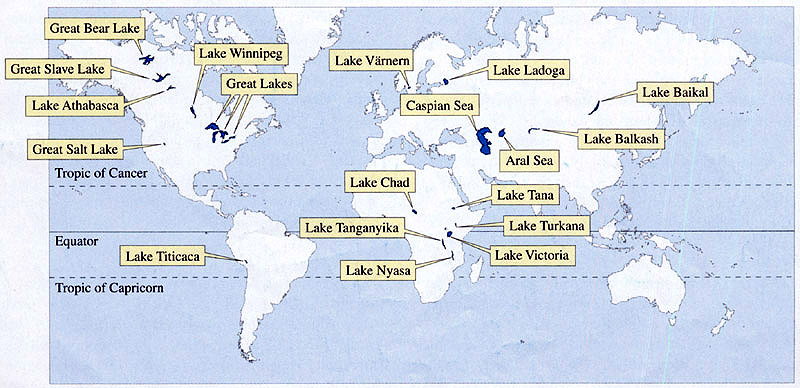 Some Of The World's Largest Lakes