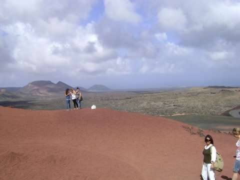On top of the volcano