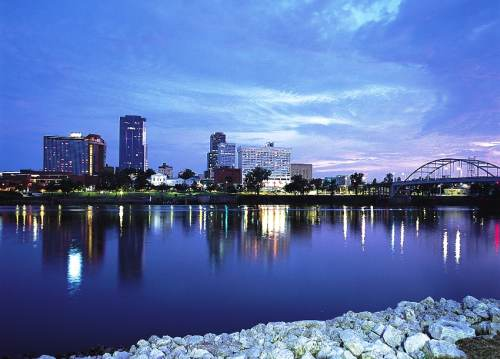 Little Rock Skyline & River
