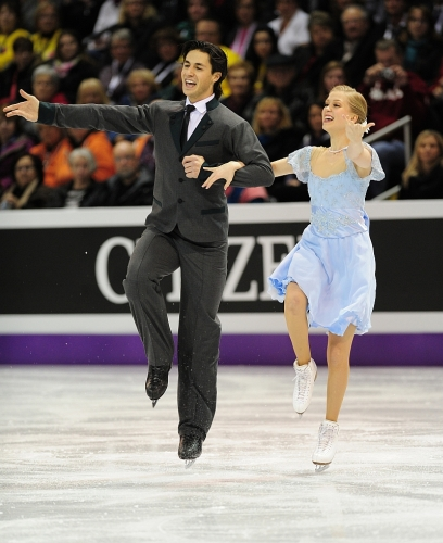 Canadians Kaitlyn Weaver and Andrew Poje, photo by Skate Canada, Stephan Potopnyk