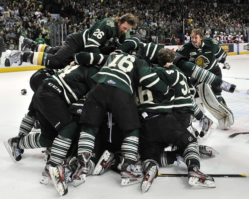 Knights win 2012 OHL Championship, photo by Budweiser Gardens
