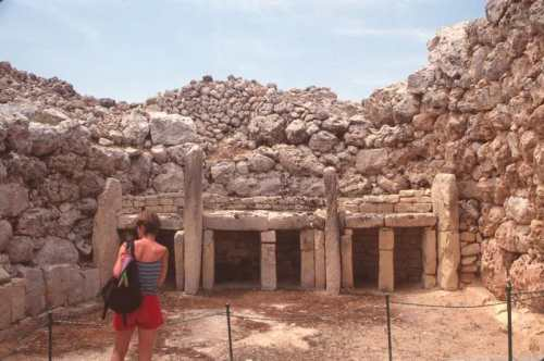 A part of Ggantija Prehistoric Temple - Photo by Burt Fine