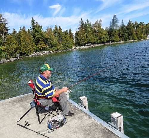 Charlie Sheppard fishing on Lake Manitou, photo by Mike Keenan
