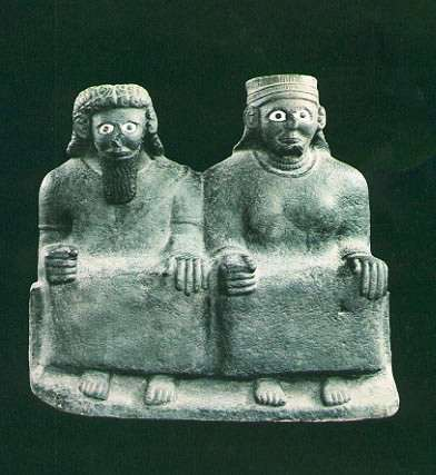 Syria-Mari, Male and Female Statues