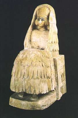 Syria-Mari, Seated Female at Temple of Ishtar