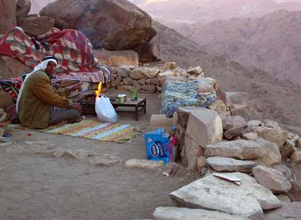Teatime for this Bedouin