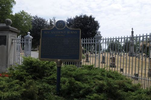 Gravesite - Rev Anthony Burns
