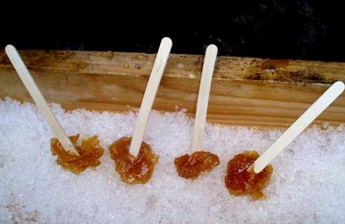 Maple Syrup Toffee Sticks