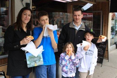 Roques Family From Ancaster Enjoy Their Hot Dogs