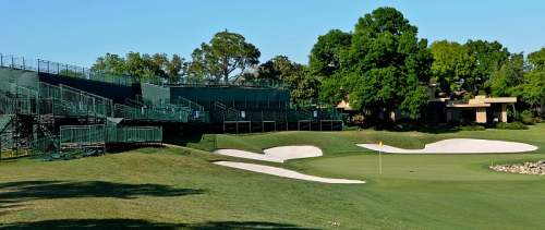 Bay Hill, 18th green stands, photo by Mike Keenan