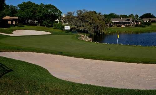 Bay Hill, 18th green traps, photo by Mike Keenan