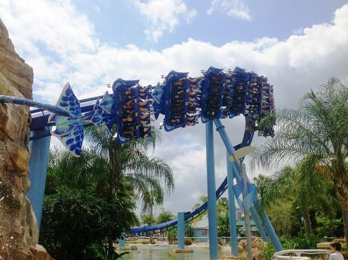 Roller Coaster Sea World, photo by Jane Hastelow