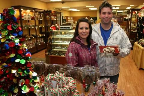 Sarah And John Chalmers Inside Their Chocolate Sensations Shop