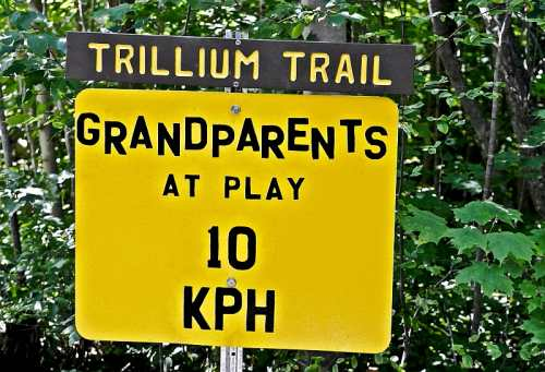 Trillium Trail Sign, photo by Mike Keenan
