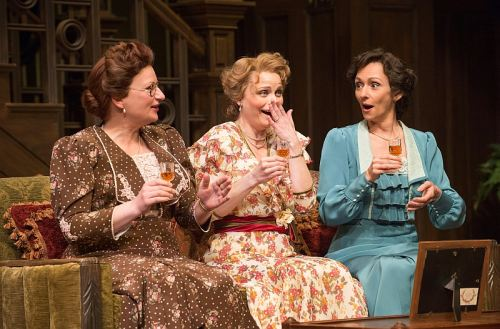 Kate Hennig as Clara Soppitt, Claire Jullien as Maria Helliwell and Catherine McGregor as Annie Parker. Photo by David Cooper
