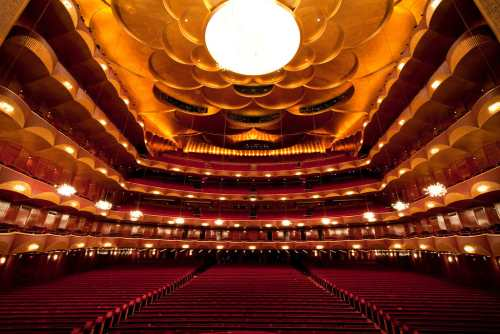 The auditorium of the Metropolitan Opera House in New York City